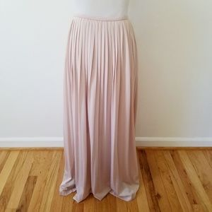 Mossimo Supply Co. Skirts - Mossimo Supply Pleated Blush Maxi Skirt